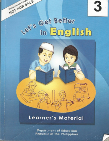 """A Critique: The DEC's Grade 3 """"Let's Get Better in English"""