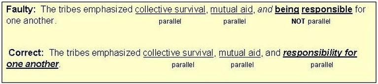 Maintaining Parallelism Of Long Serial Grammar Elements