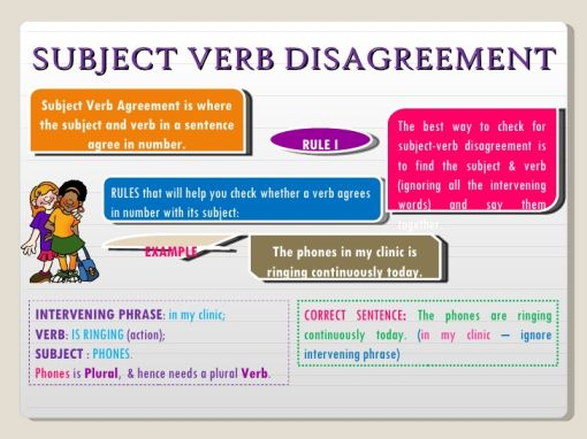 The Subject Verb Agreement Conundrum Flares Up Again 1