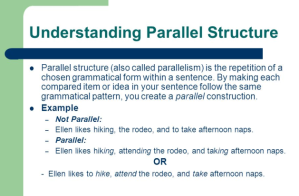 Parallelism parallelism examples in career essays